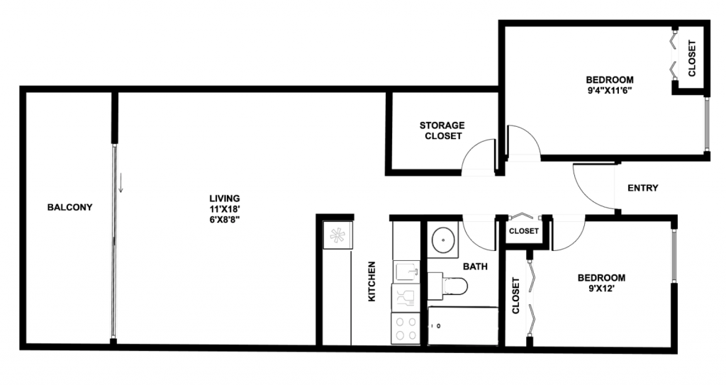 619-floor-plan-2-Bed-(209, 211, 311)